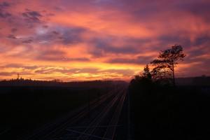 11. - Sonnenaufgang am Samstag den 05.11.2011